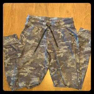 Lululemon Rulu Joggers Heather Camo Print